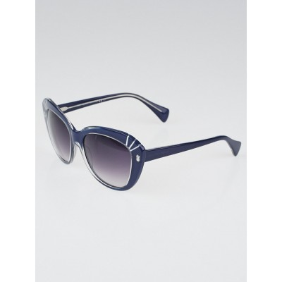Alexander McQueen Blue Acetate Frame Cat-eye Sunglasses- 4231