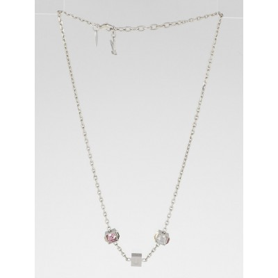 Louis Vuitton Multicolor Swarovski Crystal Gamble Necklace