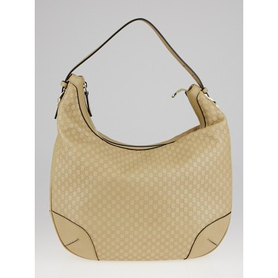Gucci Beige Micro-Guccissima Leather Nice Hobo Bag