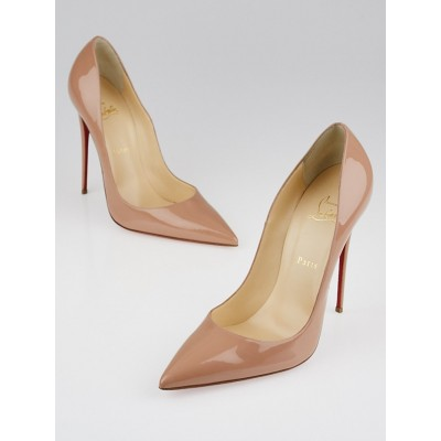 Christian Louboutin Nude Patent Leather So Kate 120 Pumps Size 11.5/42