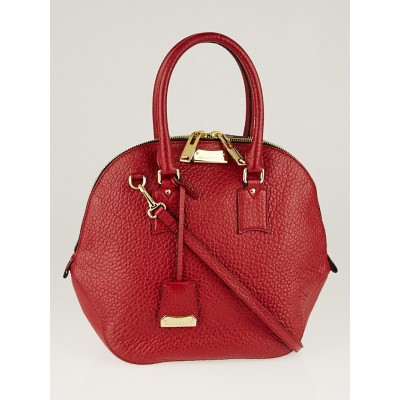Burberry Red Grain Leather Large Orchard Bag