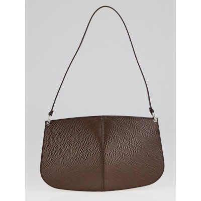 Louis Vuitton Moka Epi Leather Demi-Lune Pochette Bag