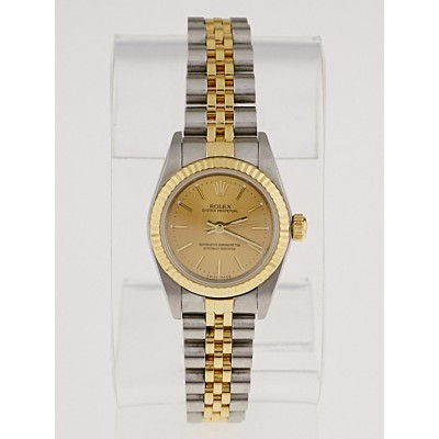 Rolex 26mm Stainless Steel and 18k Gold Oyster Perpetual Datejust Watch