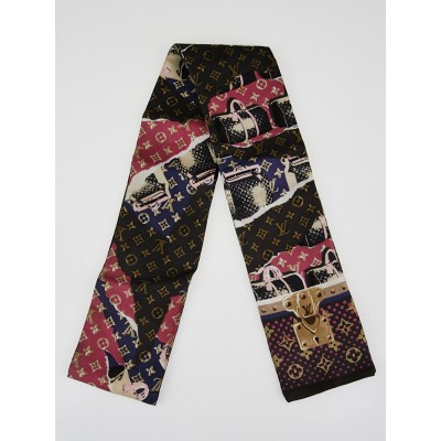 Louis Vuitton Monogram Voyage Silk Bandeau Scarf