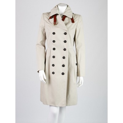 Burberry London Trench Cotton Markington Trench Coat Size 6
