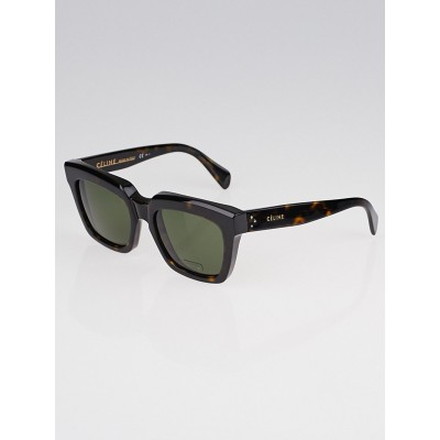 Celine Tortoise Shell Acetate Traveller Sunglasses 41023/S