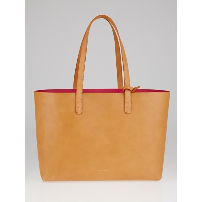 Mansur Gavriel Cammello/Dolly Vegetable Tanned Leather Small Tote Bag