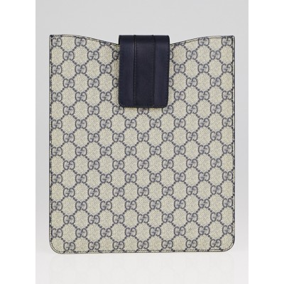 Gucci Beige/Blue GG Coated Canvas iPad Case