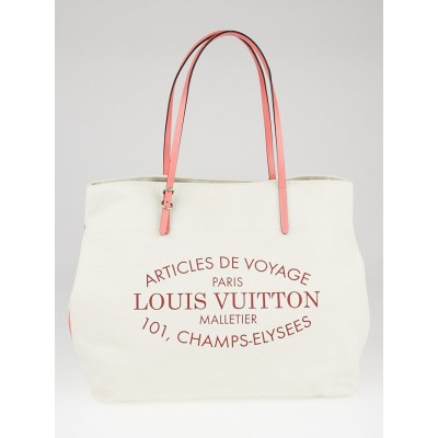 Louis Vuitton Corail Cotton Canvas Articles de Voyage Cabas GM Bag