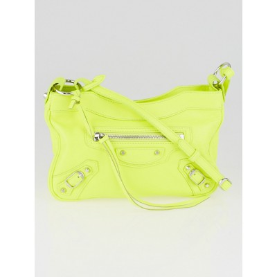 Balenciaga Jaune Fluo Lambskin Leather Classic Hip Bag