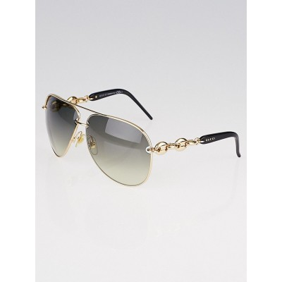 Gucci Gold Metal Frame Gradient Tint Aviator Sunglasses-4225