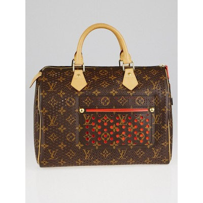 Louis Vuitton Limited Edition Orange Monogram Perforated Speedy 30 Bag