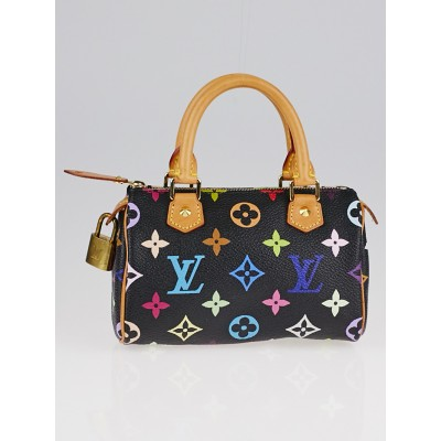 Louis Vuitton Black Monogram Multicolore Canvas Mini Sac HL Bag