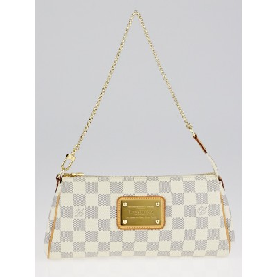 Louis Vuitton Damier Azur Canvas Eva Clutch Bag