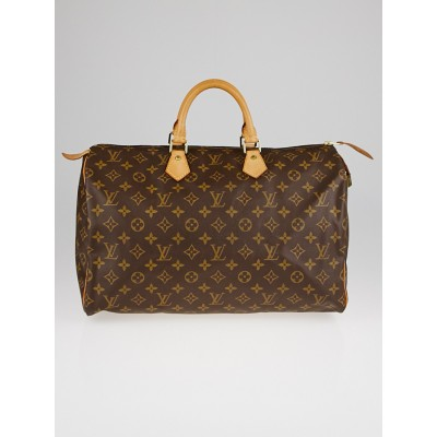Louis Vuitton Monogram Canvas Speedy 40 Bag