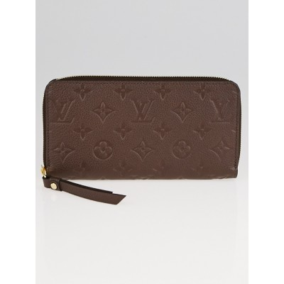 Louis Vuitton Terre Monogram Empreinte Leather Zippy Wallet