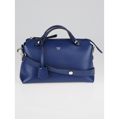 Fendi Blue Calfskin Leather Small By The Way Bag 8BL124