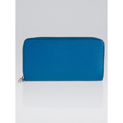 Louis Vuitton Cyan Epi Leather Zippy Wallet