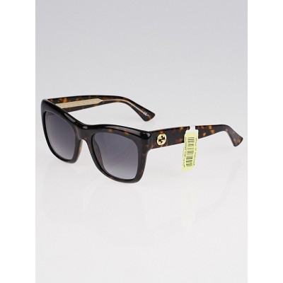 Gucci Tortoise Shell Acetate Frame Gradient Tint Sunglasses-3827