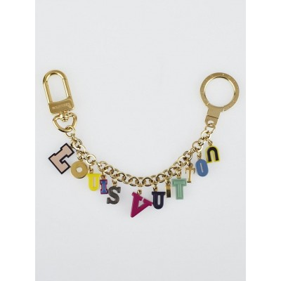Louis Vuitton Multicolor Resin Playtime Letters Key Holder and Bag Charm