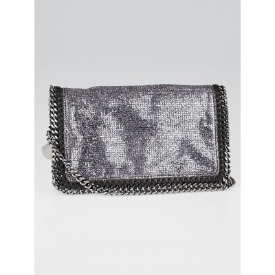 Stella McCartney Silver Glitter Falabella Crossbody Pochette Bag