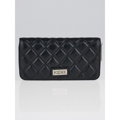 Chanel Black Quilted Leather (PNY- Paris New York) Zippy Wallet