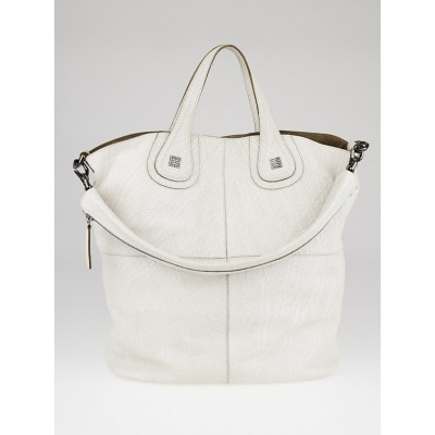 Givenchy Ivory Embossed Calfskin Leather Nightingale Tote Bag