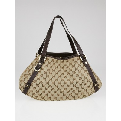 Gucci Beige/Ebony GG Canvas Medium Abbey Tote Bag