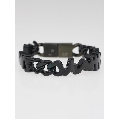 Louis Vuitton Black Metal Graffiti Bracelet