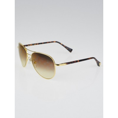 Louis Vuitton Goldtone Metal Frame Monogram Conspiration Pilote Sunglasses-Z0164U