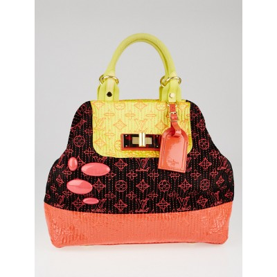 Louis Vuitton Limited Edition Neon Noir Monogram Motard Firebird Bag