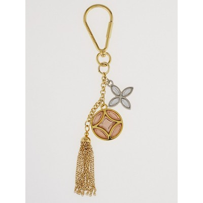 Louis Vuitton Pink Resin and Goldtone Metal Flower Key Holder and Bag Charm