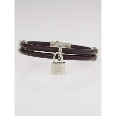 Louis Vuitton Moka Epi Leather Keep It Twice Bracelet