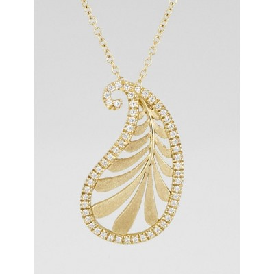 Tiffany & Co. 18k Gold and Diamond Paloma Picasso Villa Paloma Palm Pendant