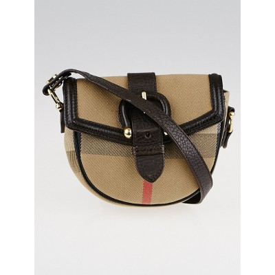 Burberry House Check Cotton Mini Crossbody Bag