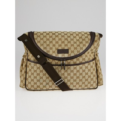 Gucci Beige/Ebony GG Canvas Diaper Bag