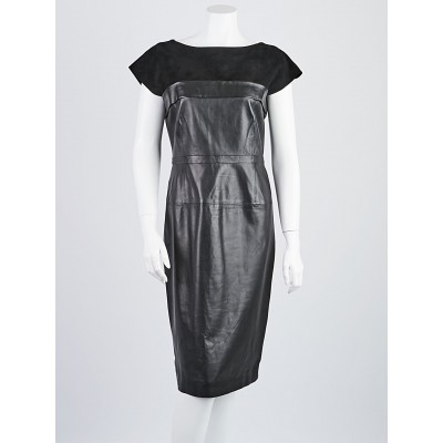 Gucci Black Leather/Suede Dress Size 8/42