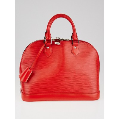Louis Vuitton Coquelico Epi Leather Alma PM Bag