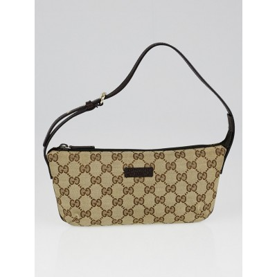 Gucci Beige/Ebony GG Canvas Accessories Pochette Bag