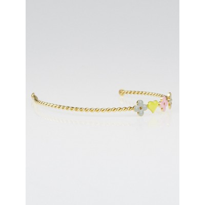 Louis Vuitton Gold/Multicolor Monogram Sweet Braided Headband