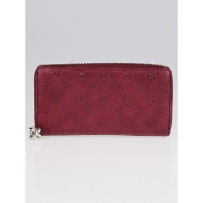 Gucci Red Guccissima Leather Zippy Wallet