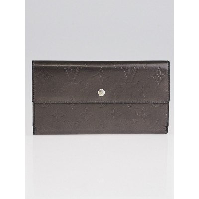 Louis Vuitton Black Monogram Mat Porte-Tresor International Wallet