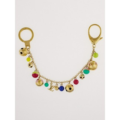 Louis Vuitton Limited Multicolor Goldtone Chain Grelots Key Holder and Bag Charm