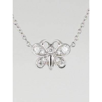 Tiffany & Co. Platinum and Diamond Enchant Butterfly Pendant