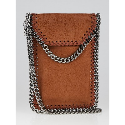 Stella McCartney Brown Falabella Faux Leather Crossbody Phone Pouch Bag