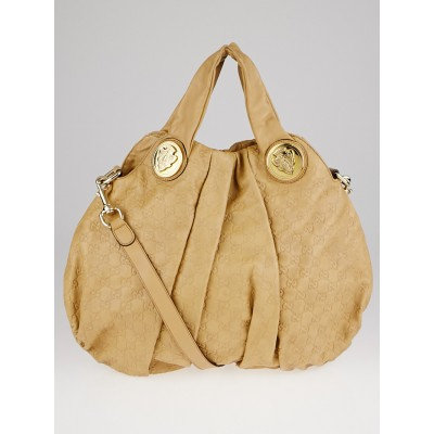 Gucci Beige Guccissima Leather Hysteria Top Handle Bag