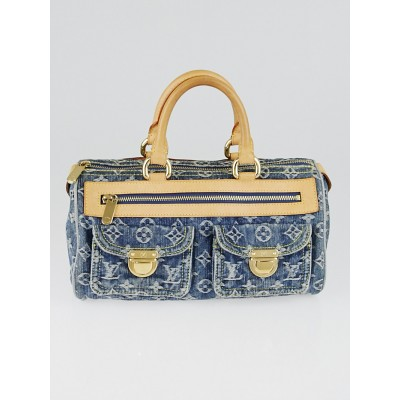 Louis Vuitton Blue Denim Monogram Denim Neo Speedy Bag