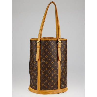 Louis Vuitton Monogram Canvas Large Bucket Bag w/o Accessories Pouch