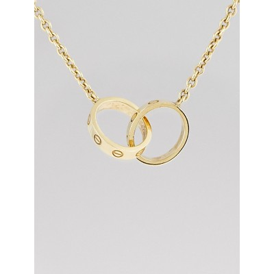 Cartier 18k Yellow Gold LOVE pendant