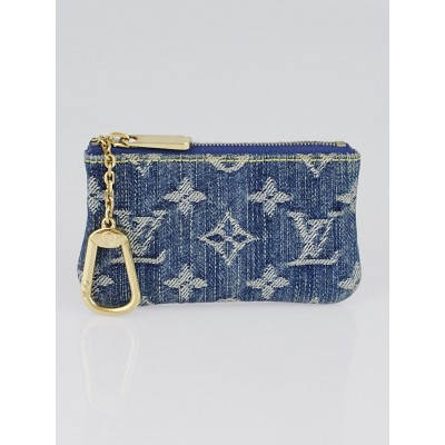 Louis Vuitton Blue Denim Monogram Denim Pochette Cles